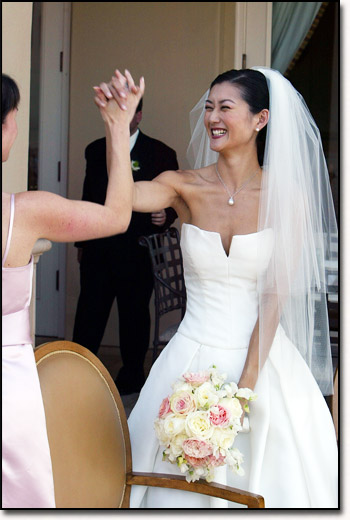High Fiving Bride